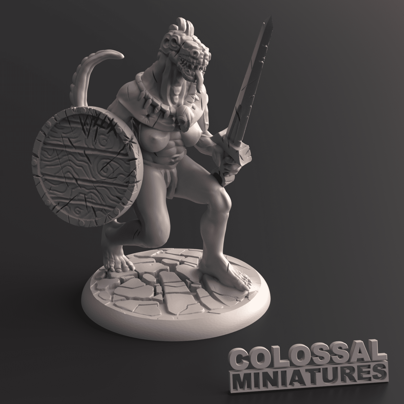 Lizardfolk_Female_with_Sword_and_Shield_A_with_base_v002