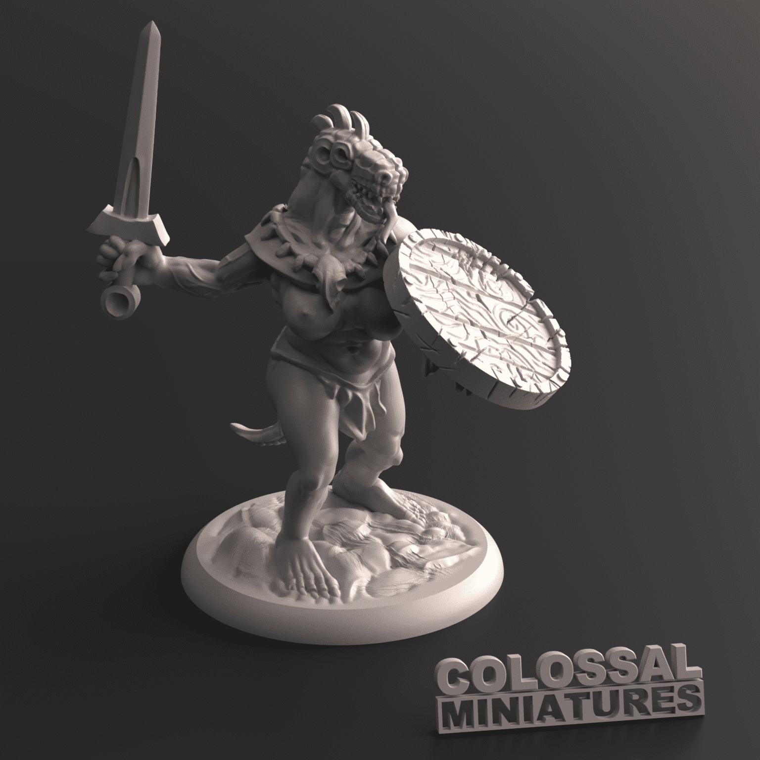 Lizardfolk_Female_with_Sword_and_Shield_B_with_base_v001