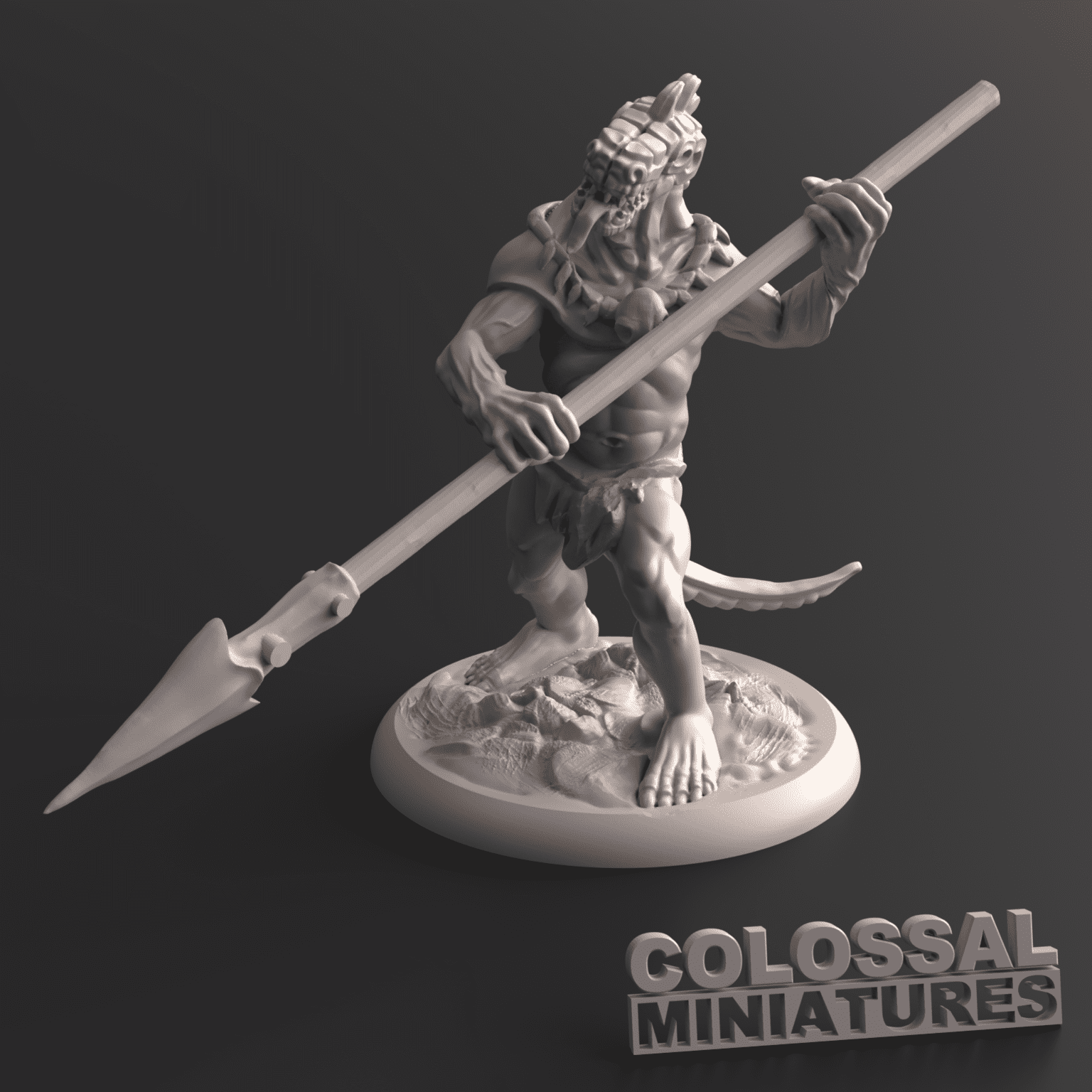 Lizardfolk_Male_Spear_Two_Handed_A_with_base_v001