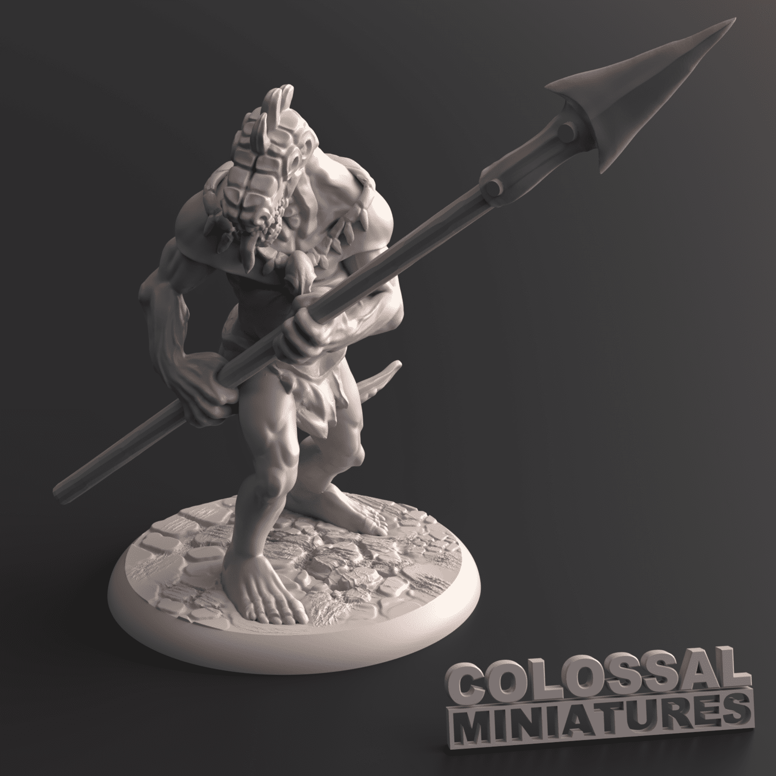 Lizardfolk_Male_Spear_Two_Handed_B_with_base_v001