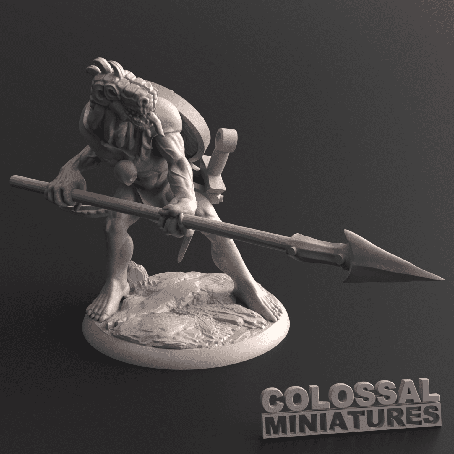 Lizardfolk_Male_Spear_Two_Handed_C_with_base_v001