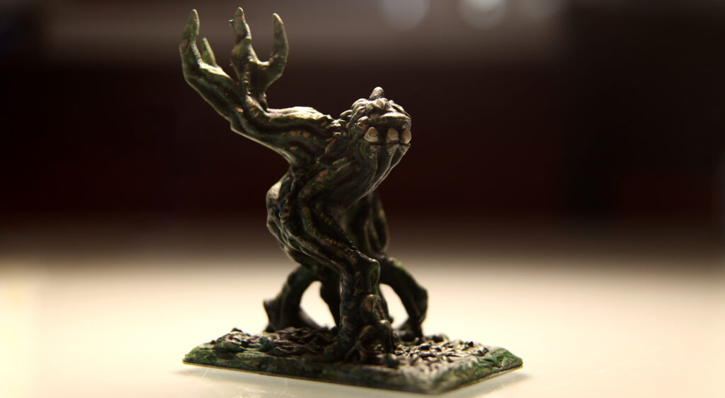 Shambling_Plant_Mound_3d_Printed_and_Painted